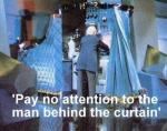 man behind the curtain